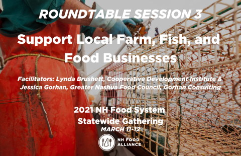 Recording of the Support Local Farm Fish and Food Businesses roundtable at the 2021 Statewide Gathering.